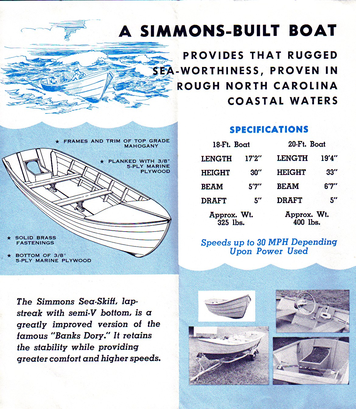 Simmons Sea Skiff 20' | www.timelessboatworks.com