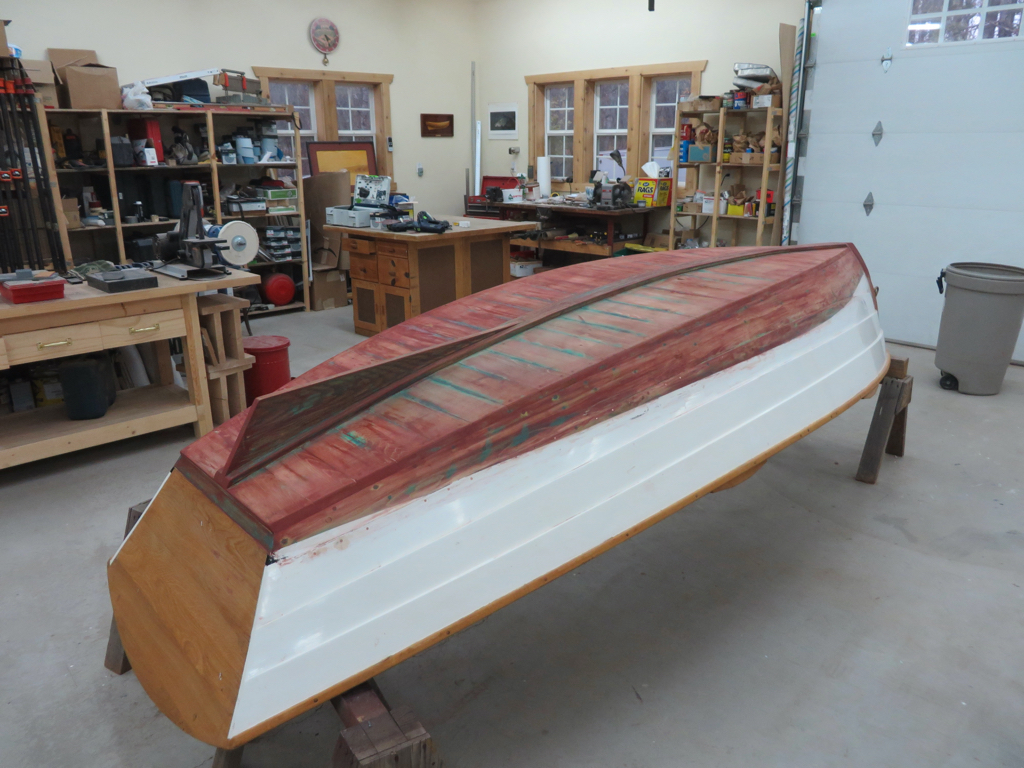 Yankee Tender Bottom Paint Stripped View from Transom
