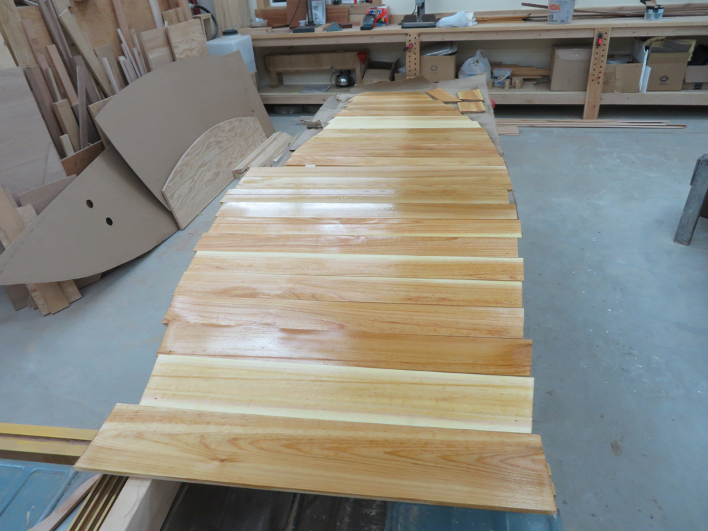 New Yankee Tender Bottom planks prepped with linseed oil